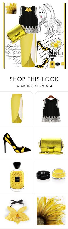 """Shein"" by vaslida ❤ liked on Polyvore featuring River Island, Burberry, Atelier Des Ors, Givenchy, Gucci and Dot & Bo"