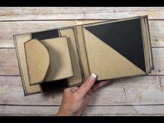 Unique Square Envelope Mini Album Tutorial - YouTube