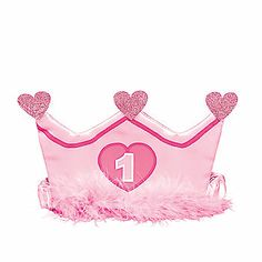 1st Birthday Girl Crown Headband