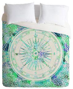HUANZI Polyester Duvet Cover Circular Pattern Duvet Cover Set Bedding Set with Pillow Case -Green, Queen Bed Duvet Covers, Comforter Sets, Duvet Cover Sets, Duvet Bedding, Mint Blue, Blue And White, Bohemian Bedding Sets, Zen, Mandala