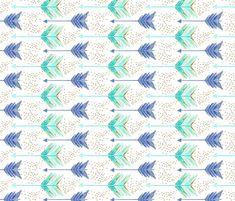 arrowsdotsblue fabric by emilysanford on Spoonflower - custom fabric