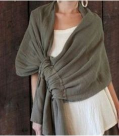 Discover thousands of images about Oh My Gauze Cotton Marie Lagenlook Wrap Shawl Adjustable s M L XL chz Color Look Fashion, Diy Fashion, Ideias Fashion, Womens Fashion, Fashion Design, Fashion Ideas, Sewing Dress, Sewing Clothes, Diy Vetement