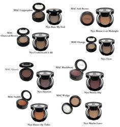 NYX substitutes for MAC eyeshadows