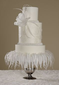 Cake Central Magazine White Wedding Issue Cover Cake