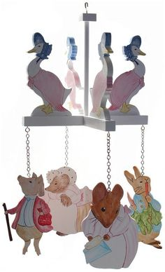 Beatrix Potter Ceiling Mobile by DominiquesOnline on Etsy, $59.00