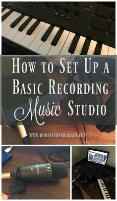 How to Set Up a Basic Recording Music Studio - Hobbies on a Budget Home Recording Studio Setup, Musik Player, Music Studio Room, Software, Instruments, Recorder Music, Budget, Music Party, Music Education