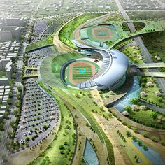 main stadium design 2014 incheon asian games by populous