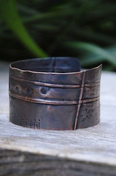 Fold Formed Copper Cuff by landscape jewel, via Flickr