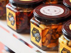 Delicious and healthy pure honey, dry fruits and nuts, for your sweet tooth! BeeNuts, a desert with energy! Pure Honey, Dried Fruit, Nutella, Sweet Tooth, Deserts, Pure Products, Healthy, Food, Desserts