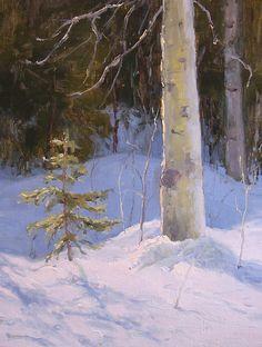 Winter's Grace by Kathleen Dunphy Oil ~ 16 x 12