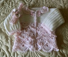 Baby Sweater Crochet Pattern 12 mo Springtime by SugarToeBabies, $4.00