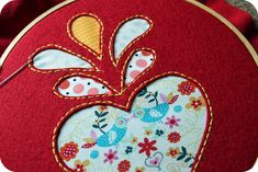 love it. reverse applique with felt & fabric