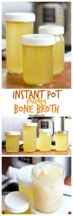 Making chicken bone broth is a snap in the pressure cooker (Instant Pot)! No more 24 hour slow cooker or stovetop! | 918 Plate #glutenfree #dairyfree #paleo #whole30 #keto