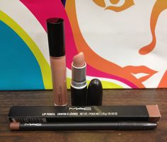 My new MAC nude lips! Creme Sheen  D'Nude lipstick;  Oak Lip Liner; and Boy Bait Lip Gloss.