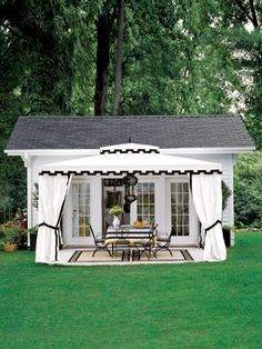 outdoor room outside shed