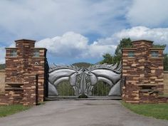 Fancy Ranch Gate - I bet they have horses...