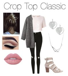 """""""Crop Top Classic!🎀"""" by jazzrodgers ❤ liked on Polyvore featuring True Decadence, Topshop, Toast and Lime Crime"""