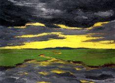 """Twilight (Marshy Landscape)"". Emil Nolde. 1916."