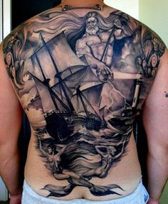 Poseidon - 100 Boat Tattoo Designs <3 <3