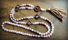 Peaceful Heart Rose Mala