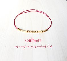 Soulmate Morse Code Bracelet Dainty Bracelet Morse by GLIAJEWELRY