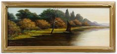 Lot 578: Grace Talbot (American, 20th Century) Oil on Board; Undated, signed lower left, depicting a sailboat on water with trees in the background