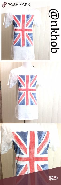 English Flag Print Tee English Flag Print tee shirt. Size small. Actually purchased in the U.K. 100% cotton NWT. Tops Tees - Short Sleeve