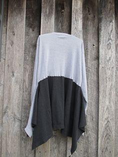 Henley Boho Plus Size Knit Dress Tunic Romantic by FreeRangeRags