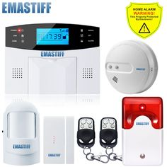 99 Wireless GSM SMS Remote control new Built-in Antenna Door Gap Sensor Fire Smoke Burglar Alarm System Home Security Protection #Affiliate