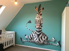 Beautiful wall painting created in a child's room. Beautiful wall painting created in a ch 3d Wall Painting, Wall Drawing, 3d Wall Art, Art Mural, Art Wall Kids, Wall Murals, Kids Room Murals, Kids Room Paint, Bedroom Murals