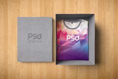 T-Shirt Box Packaging Mockup Free PSD | PSD Graphics