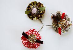 Darling decorated bobby pins!