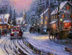 "Detail of Christmas Cottage VIII""  by Thomas Kinkade."