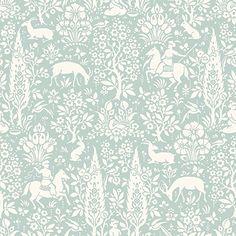 Crown Wallcoverings Woodland Wallpaper Green M1167 Full Roll: Amazon.co.uk: DIY & Tools