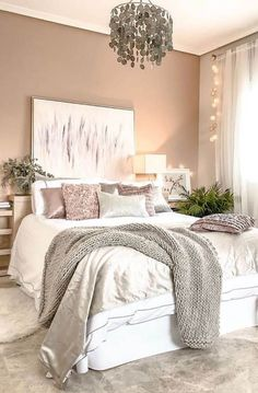 Small Bedroom Ideas On A Budget, Small Modern Bedroom, Bedroom Decor For Women, Small Bedroom Designs, Modern Bedroom Decor, Small Room Bedroom, Bedroom Colors, Design Bedroom, Master Bedroom
