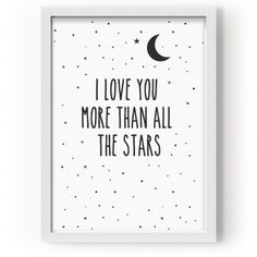 "Lámina "" I Love you more than all the stars"""