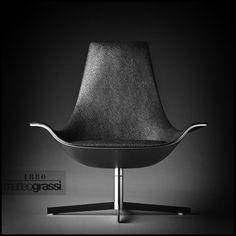 UNDO: Matteo Grassi -2leather armchair designed by Rodolfo Dordoni