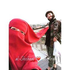 Bright Red Niqab