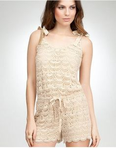 Bebe Crochet Romper – honestly I don't believe that this one is truly crochet; that looks machine done. But it's great crochet inspiration!