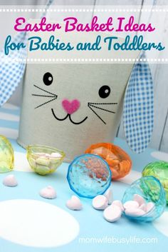 Easter basket ideas for babies and toddlers basket fillers for small childr Easter Baskets For Toddlers, Baby Easter Basket, Easter Activities, Spring Activities, Easter Crafts For Kids, Easter Gift, Easter Treats, Happy Easter, Hugs