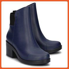 89ac6ad0cbe Melissa Shoes Women s Elastic Boot Blue Black 7 M US - Boots for women  ( Amazon Partner-Link)