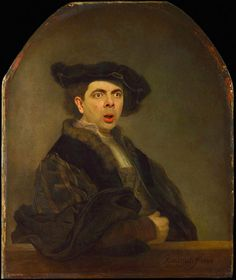 Rowan Atkinson Inserted into Famous Paintings 7