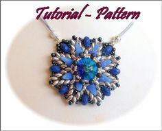 Beading pattern of beaded pendant Szira, PDF instructions, tutorial for beading step by step
