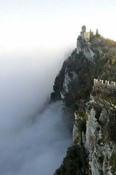 San Marino's Castle above the clouds, Italy   Wonderful Castles In The World