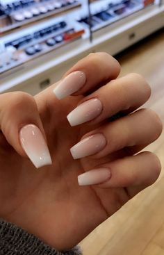 French Fade With Nude And White Ombre Acrylic Nails Coffin Nails French Fade With Nude And White Ombre Acrylic Nails Coffin Nails Honeycomb Nail Art View We loved this nail art model, that is remini. Cute Nails, Pretty Nails, My Nails, Summer Acrylic Nails, Best Acrylic Nails, Nails Yellow, Purple Nail, Coffin Nails Ombre, Faded Nails