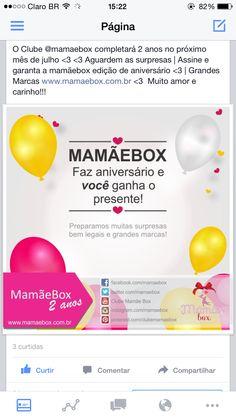 O Clube MamãeBox completará 2 anos | aguardem as novidades ❤️