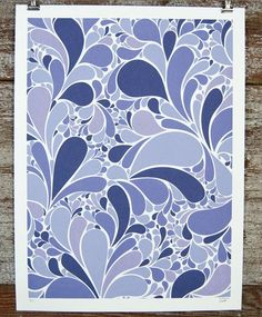Movement in Purple Print by Brainstorm Print and Design on Little Paper Planes