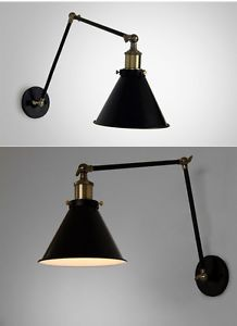 Vintage Retro Jointed Holder Simple Adjustable Wall Lamp Sconce Industrial Age   eBay