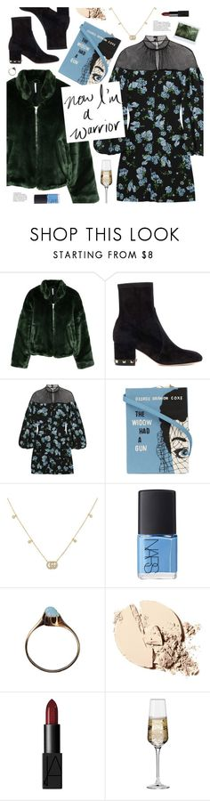 """""""now i'm a warrior"""" by valentino-lover ❤ liked on Polyvore featuring Free People, Valentino, Emilia Wickstead, Olympia Le-Tan, Gucci, NARS Cosmetics and Krosno"""