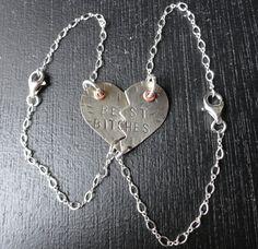 Mature Content - Bracelet - Sterling Silver Best Bitches Nickel Silver Heart Bracelets. $60.00, via Etsy.